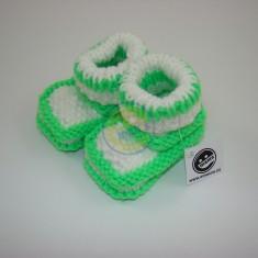 Bačkůrky neon zelené s bílou