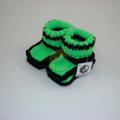 Bačkůrky neon zelené s černou