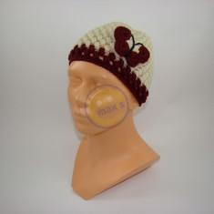 Emaxxs puff stitch dětská smetanová s rubínovou