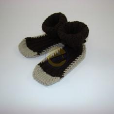 Ponožky dětské šedohnědé