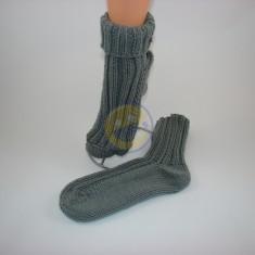 Ponožky dámské šedé ohnuté