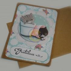 Přáníčko koťátka-gratulace