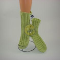 Ponožky dámské sv. zelené