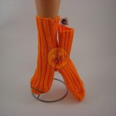Ponožky dámské neon oranžové