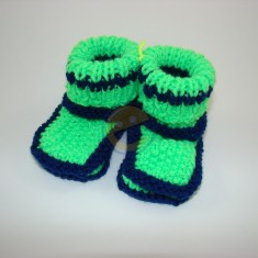 Papuče zelenomodré