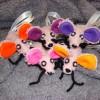 Myšky růžové kreativní 9cm