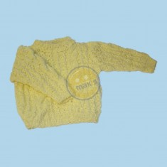 Žlutý set (svetr+kalhoty)
