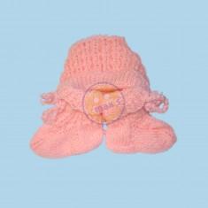 Růžový set (čepice+ponožky)