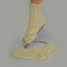 Ponožky dámské smetanové
