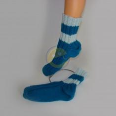 Ponožky dámské modré s pruhem