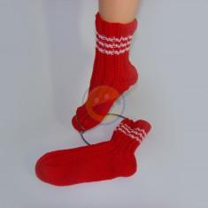 Ponožky dámské červené