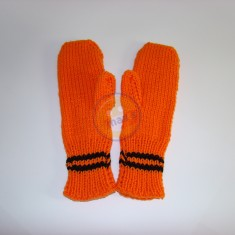 Rukavice oranžové pruh