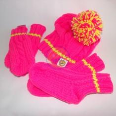 Set čepice, rukavice, ponožky