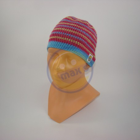 Čepice dětská bílomodrá pruhy